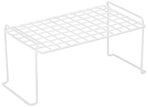IRIS Small Stacking Shelf, White (Shelf Metal Interlocking)