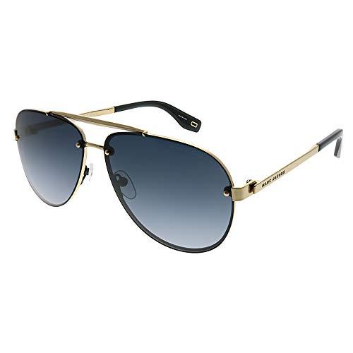 (Marc Jacobs Marc 317/S 2F7 9O Antiqued Gold Metal Aviator Sunglasses Dark Grey Gradient Lens)