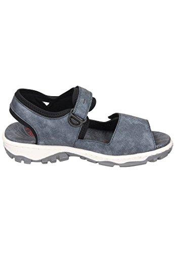 Rieker Damen-Sandalette Blau 910831-5 jeans/schwarz