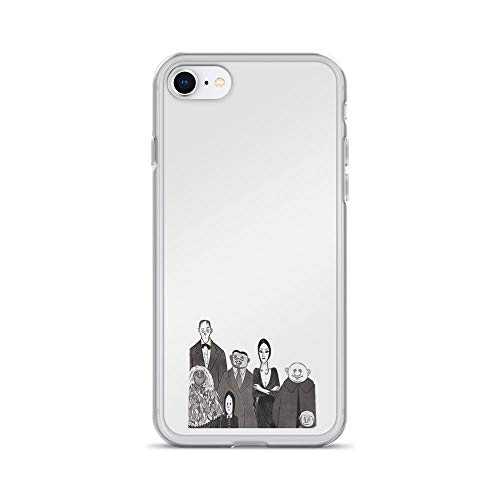 iPhone 7 Case iPhone 8 Case Clear Anti-Scratch The Addams Family, Addams Family Cover Phone Cases for iPhone 7/iPhone 8, Crystal Clear -