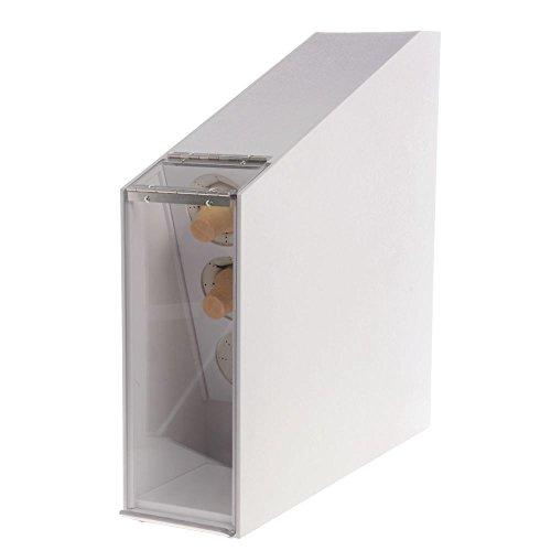 (Dispense-Rite 3-Compartment White Polystyrene Ice Cream Cone Dispenser - 23