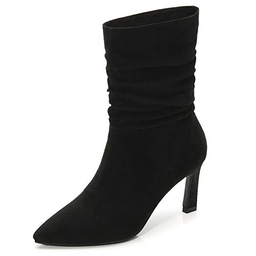 hot sell Womens Faux Suede Pointed Toe High Heel Party Stiletto Casual Ankle Boot supplies