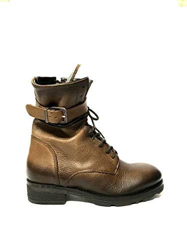 Anfibi Shoes In Pelle Donna Marrone Zeta Italy Made Vera Stivali dEFPqT4aT