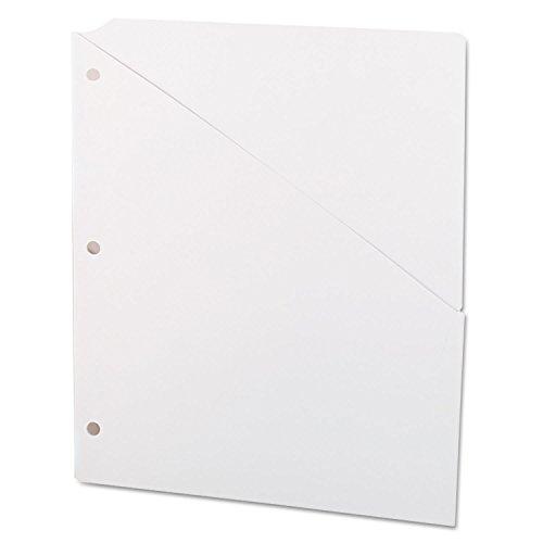 (Universal 61687 Slash-Cut Pocket for 3-Ring Binder, Letter Size, White,)