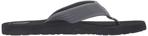 Volcom Menns Daycation Flip-flop Sandal Svart