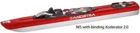 Zandstra NIS Nordic Ice Skates with Rottefella Performance Skate Slide-on Bindings, Fully Assembled, Size 45 (18