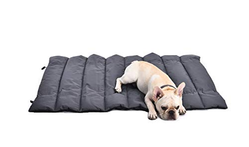 Petspective Pet Mat - Portable Cats and Dogs Travel Mat - Thick, Soft, and Comfortable Pet Sleeping Pad - Waterproof and Easy to Clean - Couch Crate Car Seat Outdoor Large Dog Bed Mat - 40'' x 27'' (Folding Bed And Pet Bag)