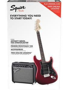 Squier by Fender Stratocaster 초보자 일렉트릭 기타 팩 (Fro..