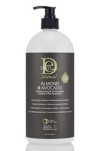 Design Essentials Almond & Avocado Moisturizing/Detangling Shampoo, 32 Fl Oz