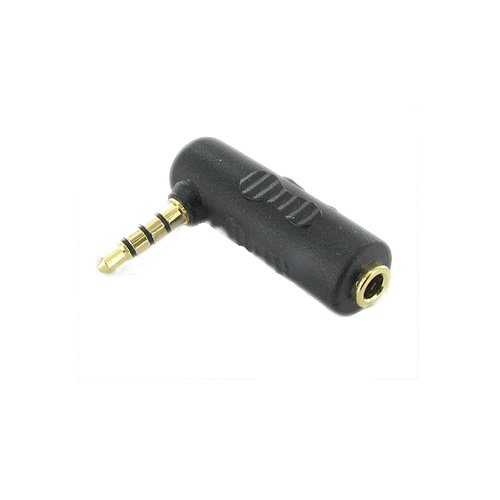 Valley Enterprises 3.5mm Female to 3.5mm Male TRRS Right Angle Gold Headphone Adapter