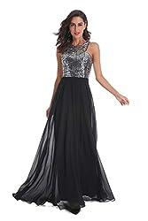 Long Formal Sequin Chiffon Gown
