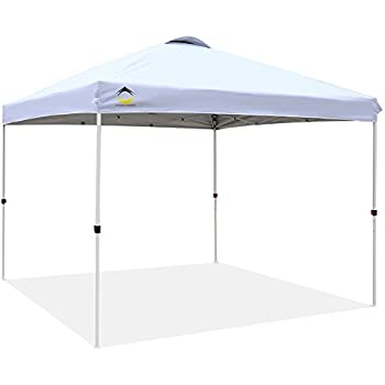 CROWN SHADES 10ft x 10ft Outdoor Pop up Portable Shade Instant Folding Canopy with Carry Bag White  sc 1 st  Amazon.com & Amazon.com : Abba Patio 10 x 10-Feet Outdoor Pop Up Portable Shade ...