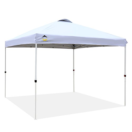 CROWN SHADES Patented 10ft x 10ft Outdoor Pop up Portable Shade Instant Folding Canopy with Carry Bag, White (Best Pop Up Shade)