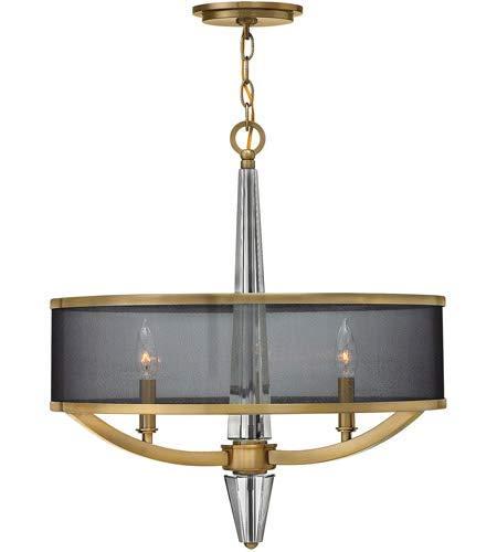 Pendants 3 Light Fixtures with Brushed Caramel Finish Steel Material Candelabra 21
