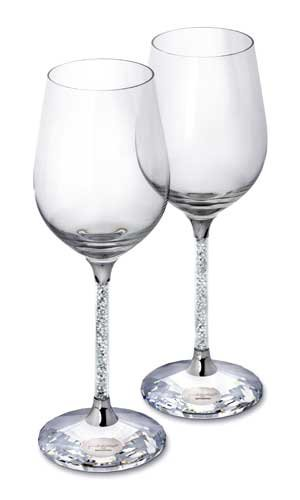 Diamond Wine Merlot Red (SWAROVSKI SET OF 2 RED WINE GLASS)