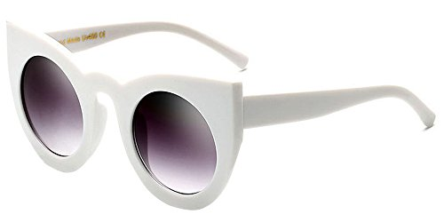 féminine à Blanc BOZEVON Gradient Color Eyewear Mode oeil Lunettes Party Cute de chat Rétro gris de soleil Lens ar05w0Sqx