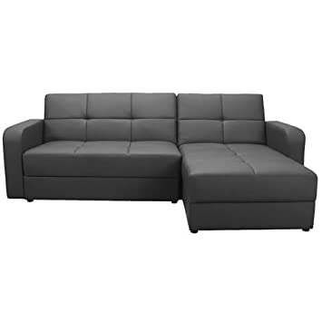 Awesome Worldstores Essentials Florida Corner Sofa Bed In Black 4 Onthecornerstone Fun Painted Chair Ideas Images Onthecornerstoneorg
