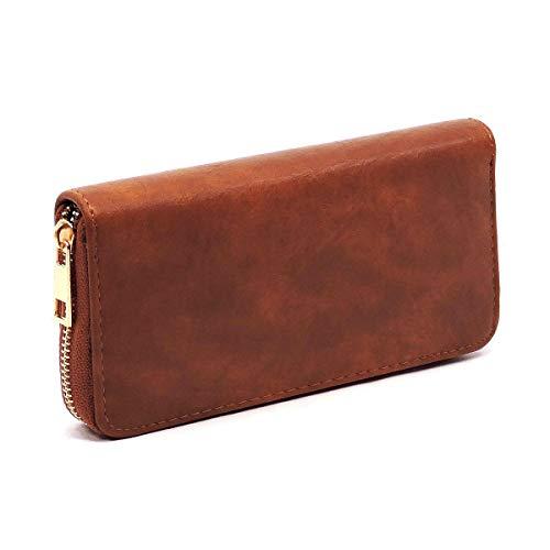 3 Wallet Hobo Strap Compartment Miel Accented amp; Colors Chain w Zipper 5 Cognac Le xnwXUqvgn