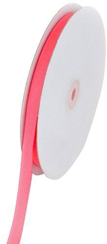 Creative Ideas Solid 3/8-Inch Grosgrain Ribbon, 50-Yard, Neon -