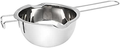Universal Double Boiler Insert, Premium Stainless Steel Baking Tools, Melting Pot for Chocolate Butter Caramel