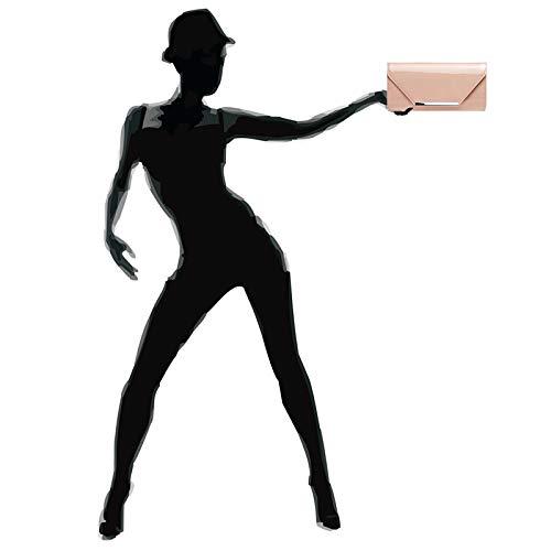 Caspar Donna Rosa Catenella Ta435 Pochette Vernice Con Elegante In Grande UTUq5Cwxr