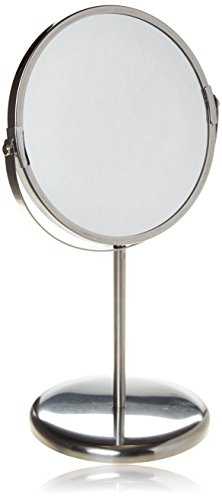 ikea-trensum-double-sided-magnifying-make-up-table-mirror-stainless-steel-frame
