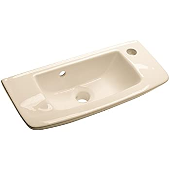 Wall Mount Bathroom Sink Small Bone Basin With Overflow Vitreous China(DOES  NOT NEED MOUNTING
