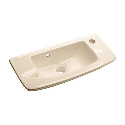 (Renovator's Supply Small Wall Mount Vessel Sink Bone Grade A Vitreous China Scratch And Stain Resistant Bathroom)
