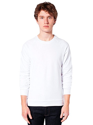 (American Apparel Men California Fleece Raglan Size S White)