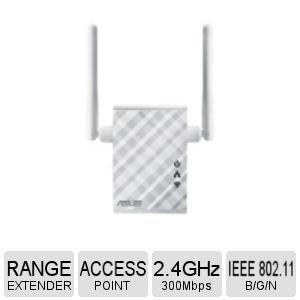 (ASUS Network RP-N12 Wireless N300 Range Extender/Access Point/Media Bridge Retail)