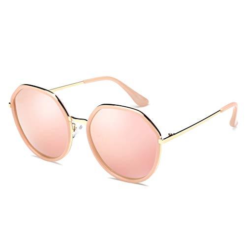 Harajuku Odshy Visage Long Soleil Face Taille Pink Femme Polarisée Tide Personnalité Rond Pink Lunettes couleur Style F Nouveaux De Rétro Carré 6Ew0rxq1n6