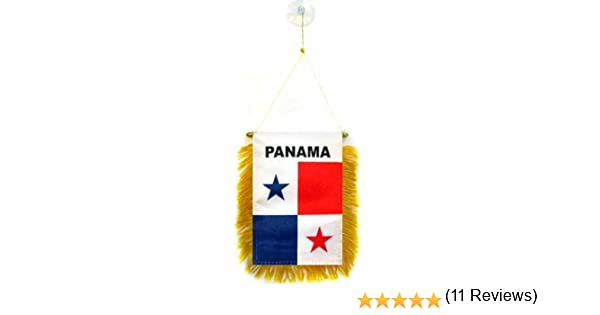 AZ FLAG BANDERIN de PANAMÁ 15x10cm con Ventosa - BANDERINA PANAMEÑA 10 x 15 cm para Coche: Amazon.es: Hogar