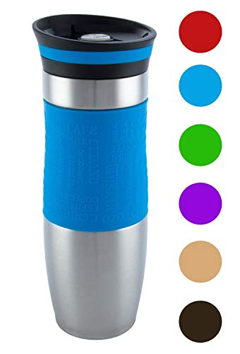 Insulated Vacuum Travel Mug, One-Handed Open and Drink, Very High Quality,...