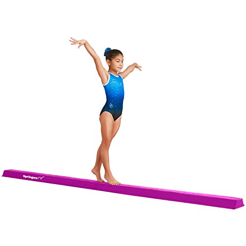(Springee 10ft Balance Beam - Extra Firm - Suede Folding Gymnastics Beam for Home - Purple)