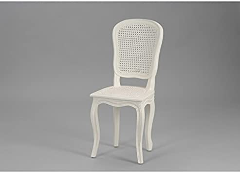 Amadeus Chaise Shabby Chic cannée Blanche Murano: