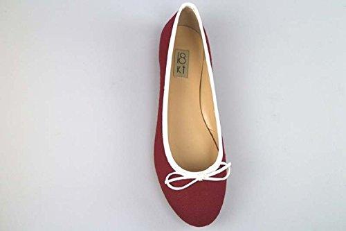 Femme Ballerines ANCARANI KT Textile AR09 Blanc 37 EU by 18 Burgundy DANIELE qX4IIx
