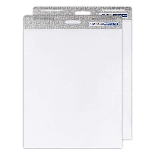 (Redi-Tag Extra Xtra Easel Meeting Pad, Sticky Wall Pad/Easel Pad, Hang Vertical or Horizontal, White, 25