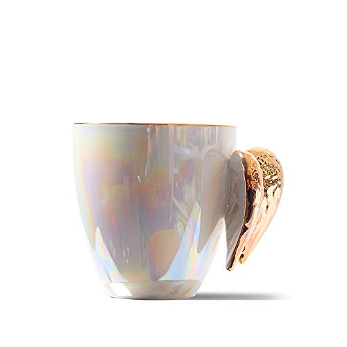 Golden Winged Angel Mug Stylish Novelty Ceramic Color Pearl Mug/Cup ()