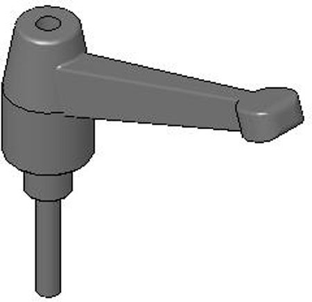 Reid Select JCL-156 Threaded-Stud Thermoplastic Adjustable Handle 2.56 Inch Long, 1/4-20 x 1.26 Inch thd. by Reid Select (Image #1)