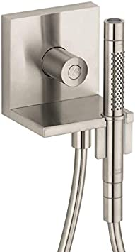 Axor Showersolutions Luxury Handheld Shower Head Holdermodern In Brushed Nickel 12651821 Amazon Com