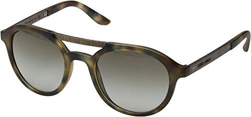 Giorgio Armani Unisex 0AR8095 Matte Blue Havana/Green Gradient One - Sunglasses Armani Giorgio Womens
