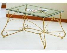 Spazio Casa Couchtisch Rechteckig Ariel Plan Glas Gold Amazon De