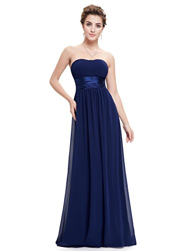 Ever Pretty Women's Strapless Ruched Bust Chiffon Long Evening Dress 09955