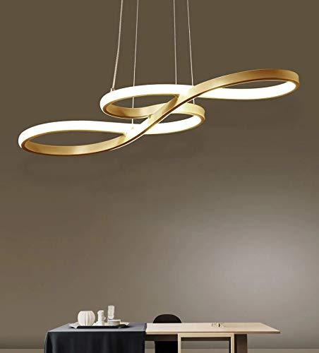 CITRA Gold Sign LED Pendant Chandelier Lights Dining Room Kitchen Lighting Lamp Cord Pendant Lamp Luminaire - Warm White
