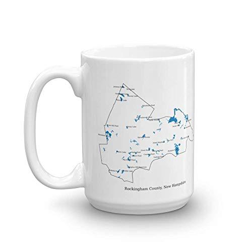uscountymaps Rockingham County, New Hampshire map Mug (15oz)
