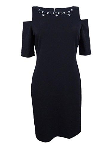 Jessica Howard Petites' Embellished Cold-Shoulder Dress 12P