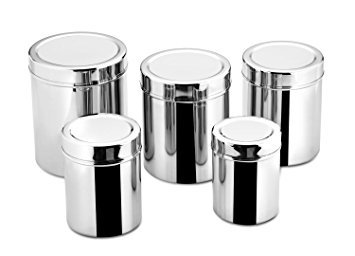 Amazon Com Stainless Steel Canister Set Ubha Dabba Set Of 6
