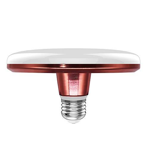 NUEVASA UFO LED Bulbs 15W (90-Watt Equivalent) 1350 Lumens 6500K Daylight E26 Base Garage Warehouse Garden Outdoor Light Bulbs (Rose Gold)