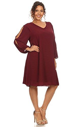 Printed Bubble Sleeve Dress - 6