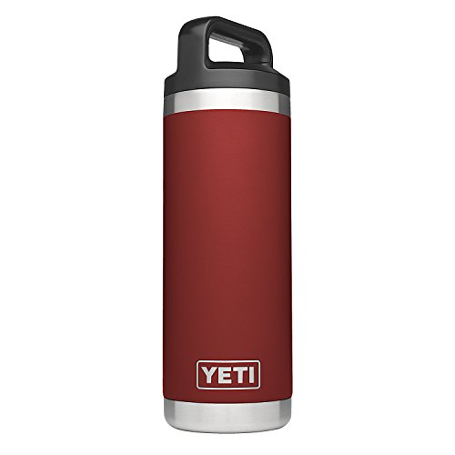 YETI Rambler 18 oz Stainless Steel Vacuum Insulated Bottle, Brick Red